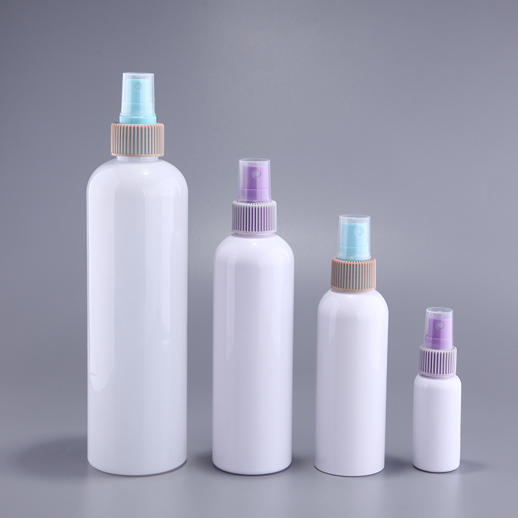 White solid color PET plastic 16oz. 8oz. 4oz. 2oz spray bottle