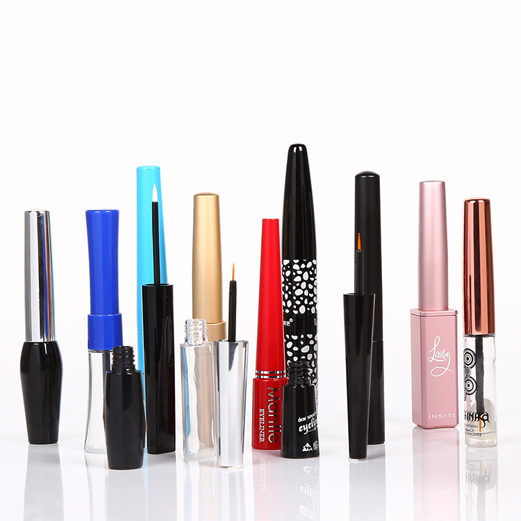 Good quality brush transparent bottle Eyeliner tube container