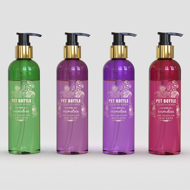 300ml size Green, Violet and Red half transpare...