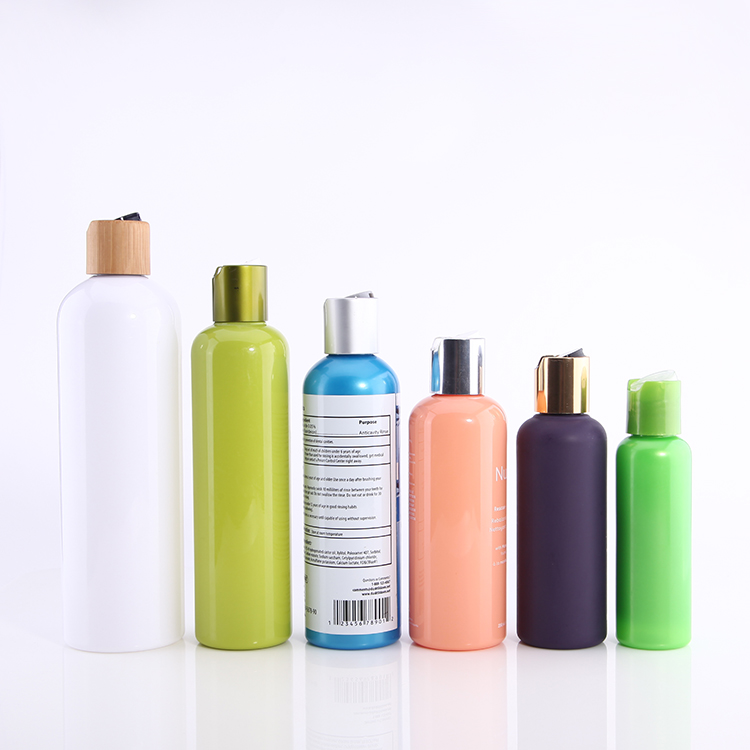 100ml 120ml 200ml 300ml 500ml green. cyan. light blue. peach. steel blue color skin care disc cap bottle