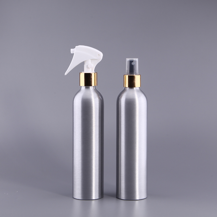 Bicycle Sports Aluminum Water Bottle, Cosmetic Customized Art Design Aluminum Bottle With Trigger Spray Cap/Mist Spray cap