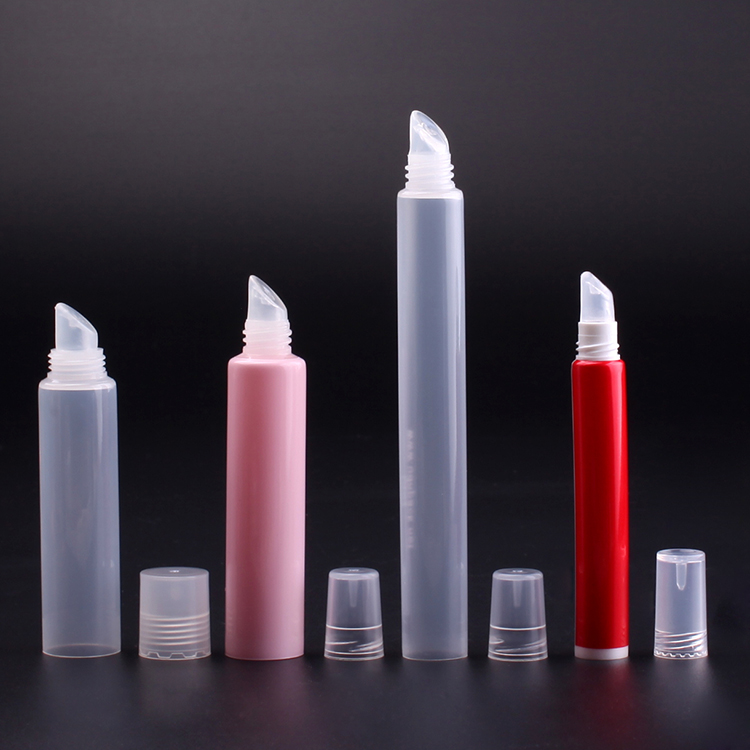 red/pink/transparent lip balm plastic tube, lip balm squeeze tube, soft lip balm tube lipstick with screw cap