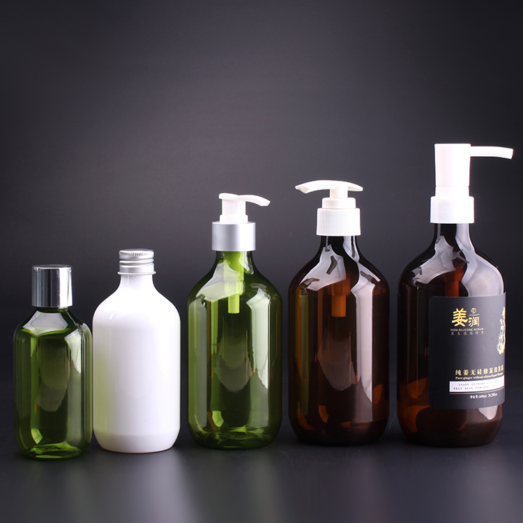 800ML 750ML 600ML 500ML 400ML 300ML 250ml 200ml PET plastic biodegradable shampoo bottle