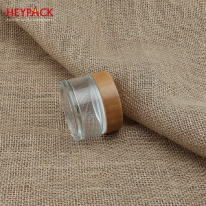 eco-friendly bamboo cosmetic packaging airless bottle and cream jar