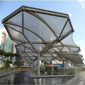 Steel curtain wall for subway station