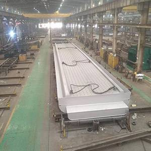 Steel box girder of pedestrian overpass bridge