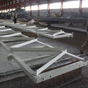 Truss welded by angle