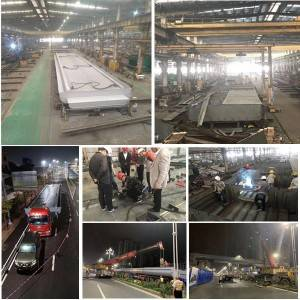 Steel footbridge fabrication and installation