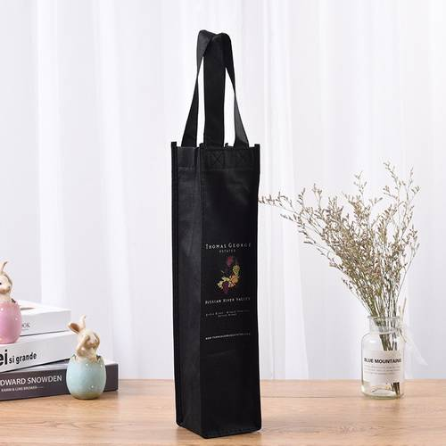BT-0072 Promotional custom logo non-woven single bottle bag