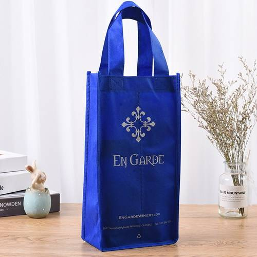 BT-0073 Promotional Eco-Friendly Non Woven handle bag 2 Bottle