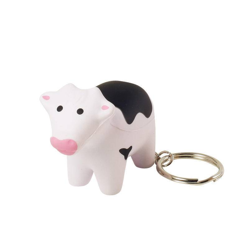 HP-0096 Cow Keyring Stress Ball