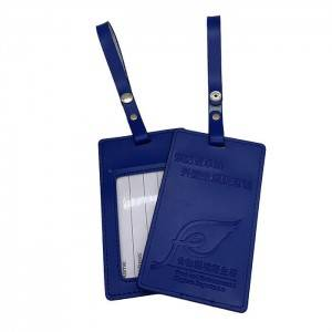BT-0114 Custom Logo PU Luggage Tag