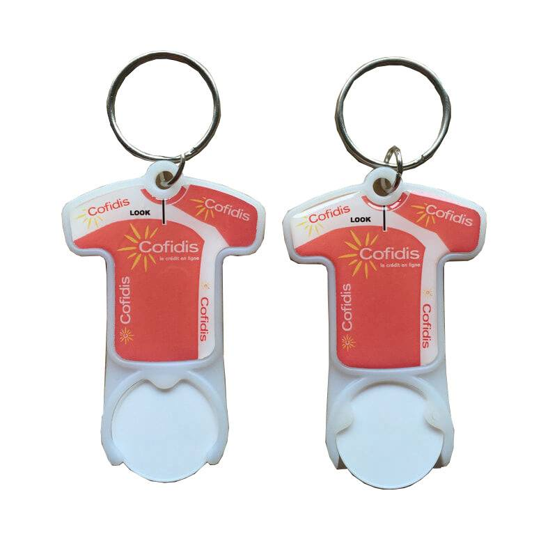 HH-0031 Football Shaped Cart Coin Keychain