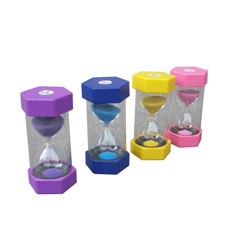 HH-0255 Custom Hexagonal Sand Timers with Logo