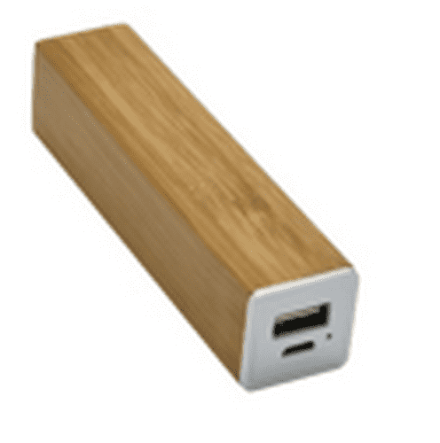 EI-0098 Promotional Custom Cuboid Bamboo Power Bank 1000mAh