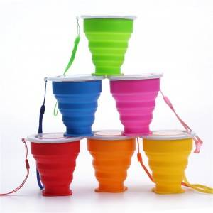 HH-0246 Collapsible Travel Silicone Cup 200ml