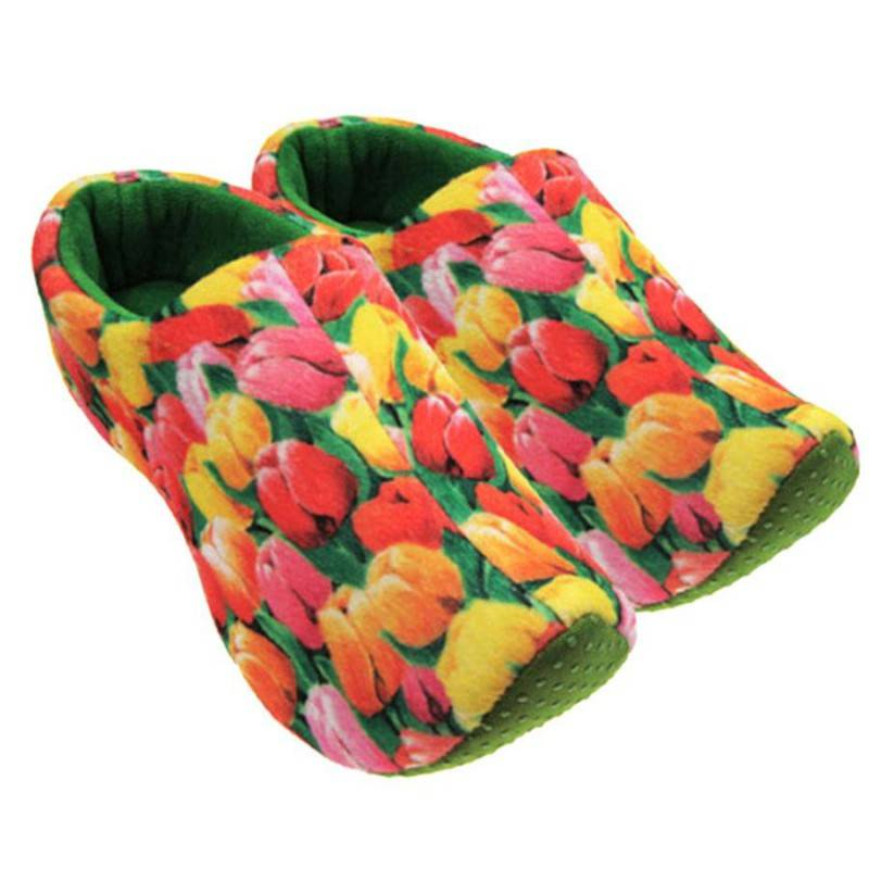 AC-0035 Custom Indoor Plush Clog Slippers