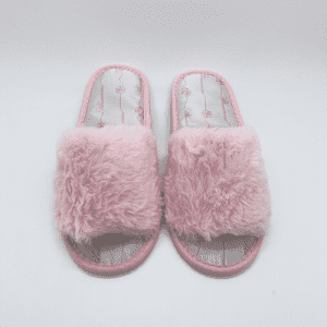 AC-0091 Custom disposable indoor fluffy slippers