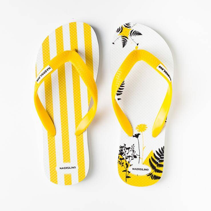 AC-0052 Custom screen printed rubber flip flops