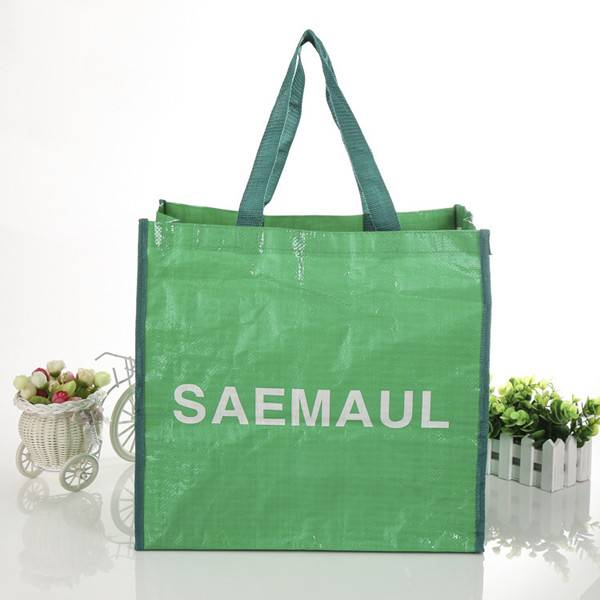 BT-0033 Promotional pp woven laminated tote bags