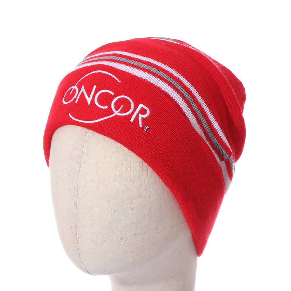 AC-0125 Personalized Business Logo Knitted Hats with Cuff