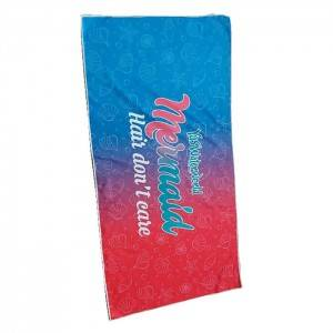 LO-0038 Custom Logo Beach Towel