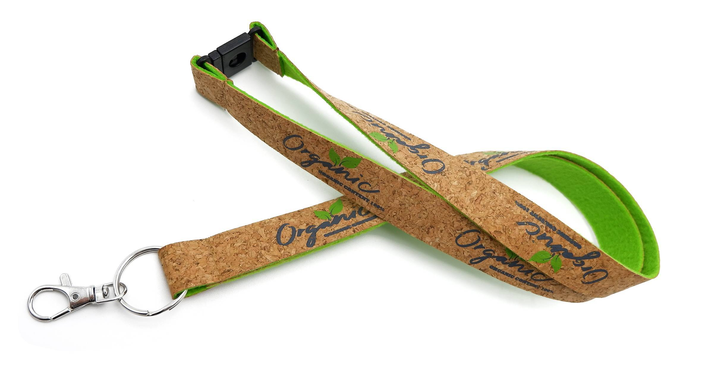 OS-0059 Promotional Eco-friendly Cork With Felt Lanyards