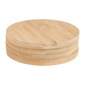 HH-0023 Custom Bamboo Coasters With Engraved Logo