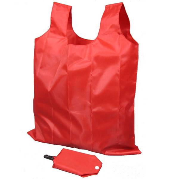 BT-0098 Custom foldable polyester tote bags with pouch