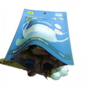 Face mask packaging of plastic bags