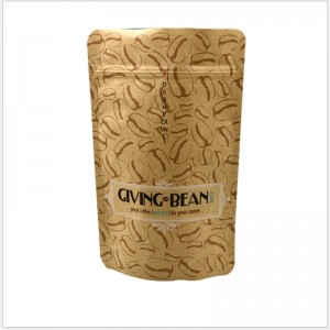 Kraft Paper bag for Coffee and Tea packaging