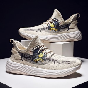 Amazon top seller white custom men shoes sneaker printed black yeezy shoes for men