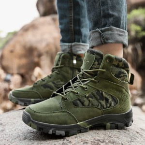 Latest high-cut mountain outdoor men sport hiking shoes trekking shoes