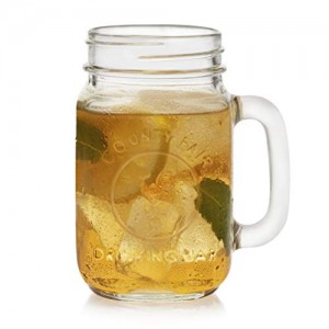 16oz Glass Drinking Mason Jar