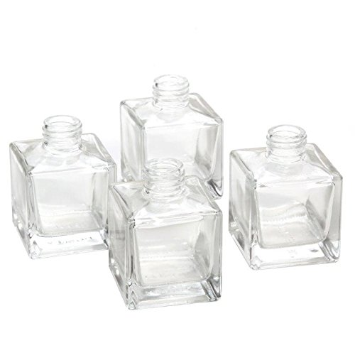 Popular 100ml Clear Square Glass Diffuser Bottle with Screw Neck Featured Image