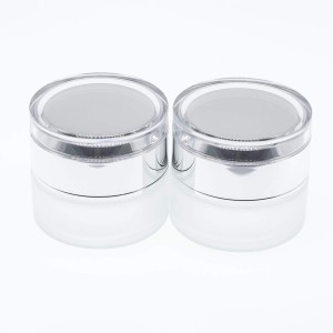 20g Refillable Frosted Glass Cosmetic Cream Jar