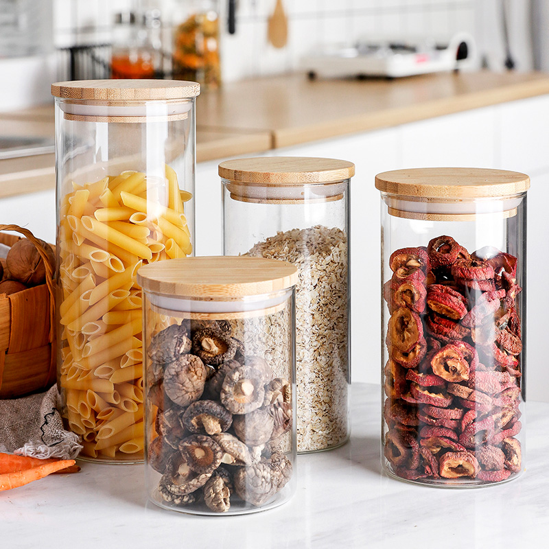 Glass Food Storage Container with Airtight Bamboo Lid Featured Image