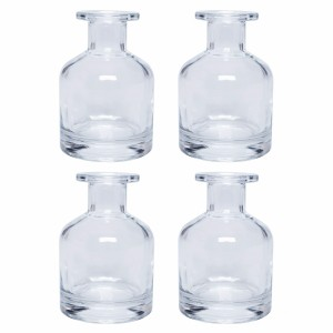 200ml Hot Sale Round Shape Clear Glass Diffuser Bottle