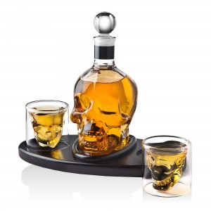 Glass Whiskey Decanter for Liquor