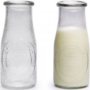 16oz Glass Milk Bottle