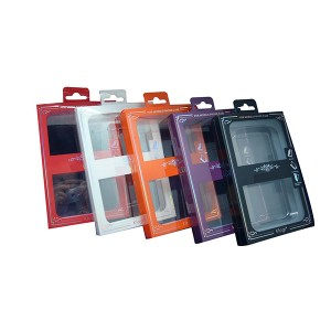 Case for phone transparent plastic packaging box /Eco friendly plastic clear PVC packing box for phone