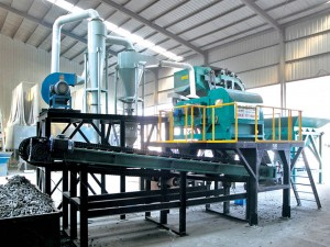 Completely non-ferrous metal separation production line