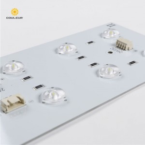 led backlight panel with lens