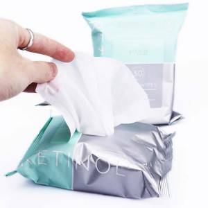Moisturizing skin-friendly makeup remover wipes