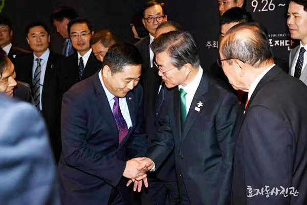 Korean President Wen met my unit Ding Zong in Yin