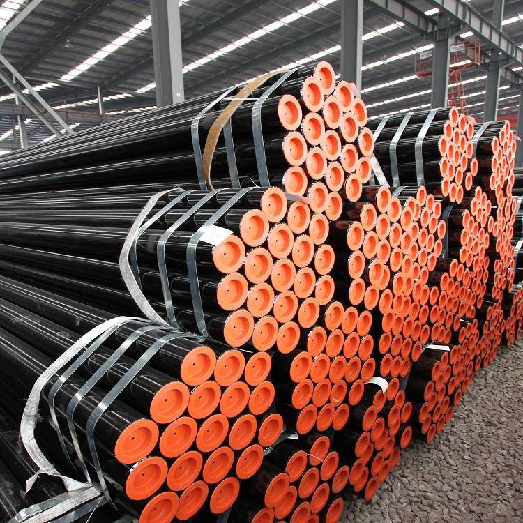China Corrugated Metal Pipe Inside Diameter Quotes - Black Varnish Painted ERW Low Carbon Steel Pipe/Tube – TOPTAC