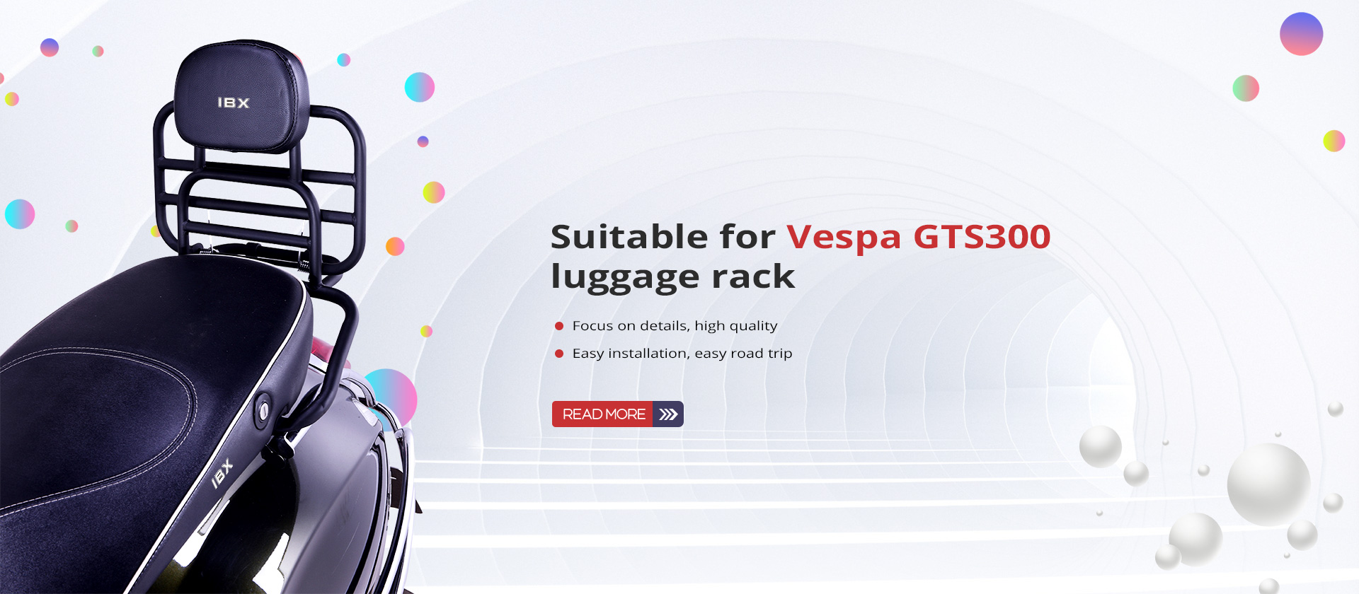 Suitable for Vespa GTS300 luggage rack