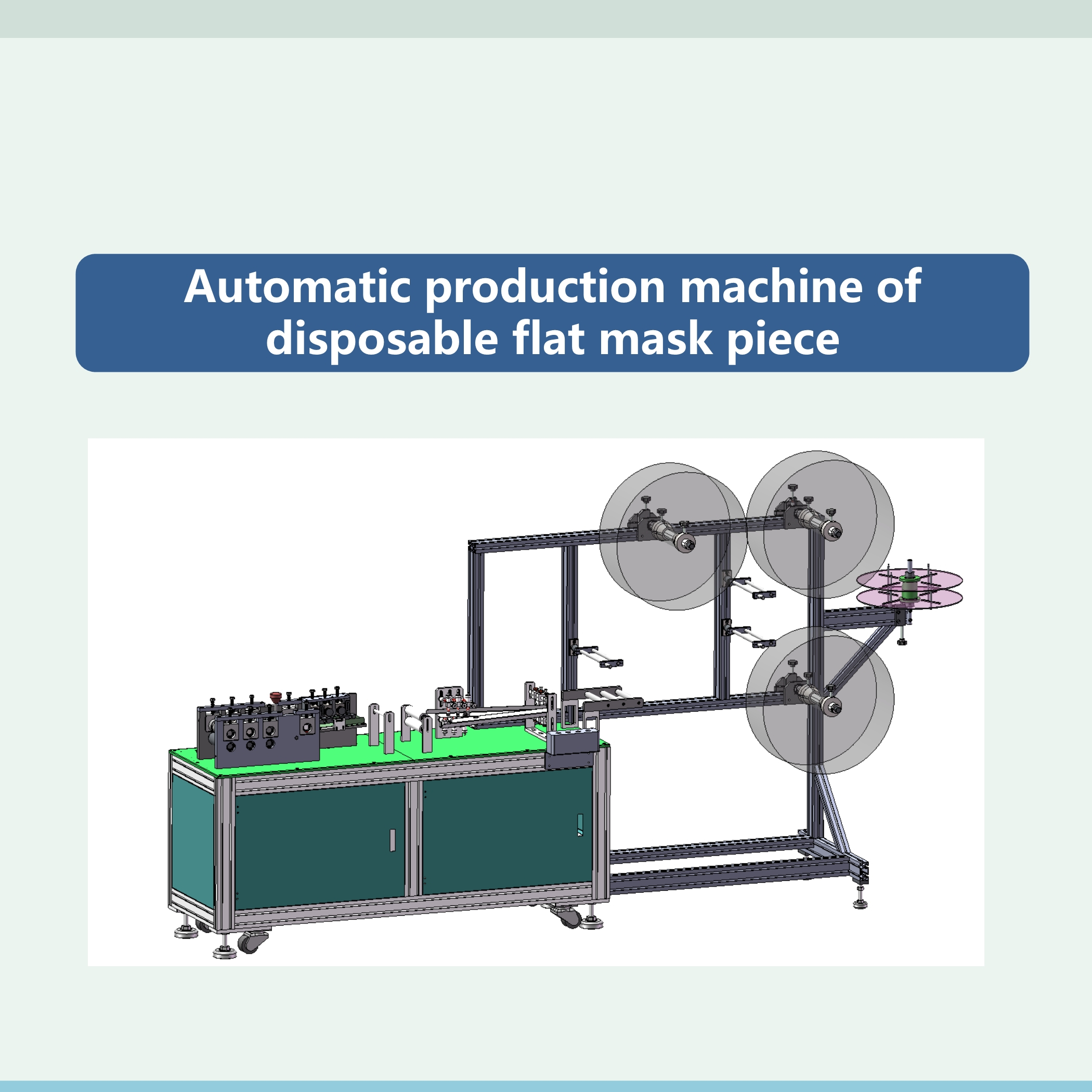 700PCS/min Automatic flat speed 3 ply face mask making machine