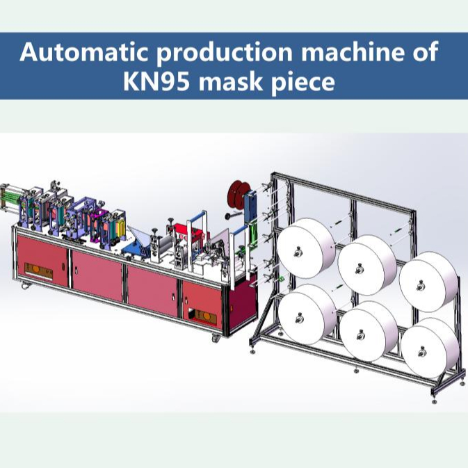 Automatic N95 Face Mask Making Machine for N95 folding face mask