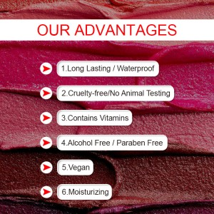 Custom lipstick private label organic cruelty free vegan matte liquid lipstick waterproof